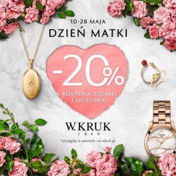 20% biżuteria, zegarki i akcesoria