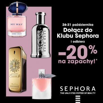 'Dołącz do Klubu Sephora i odbierz -20% na zapachy!