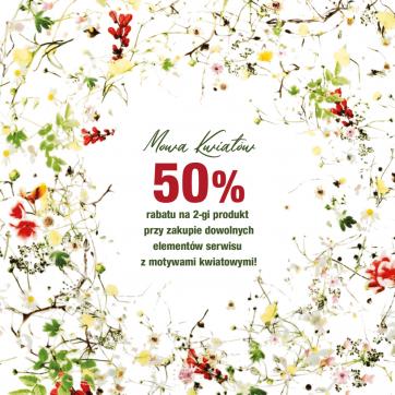 Kwiatowe kolekcje ROSENTHAL z rabatem 50% na drugi produkt!