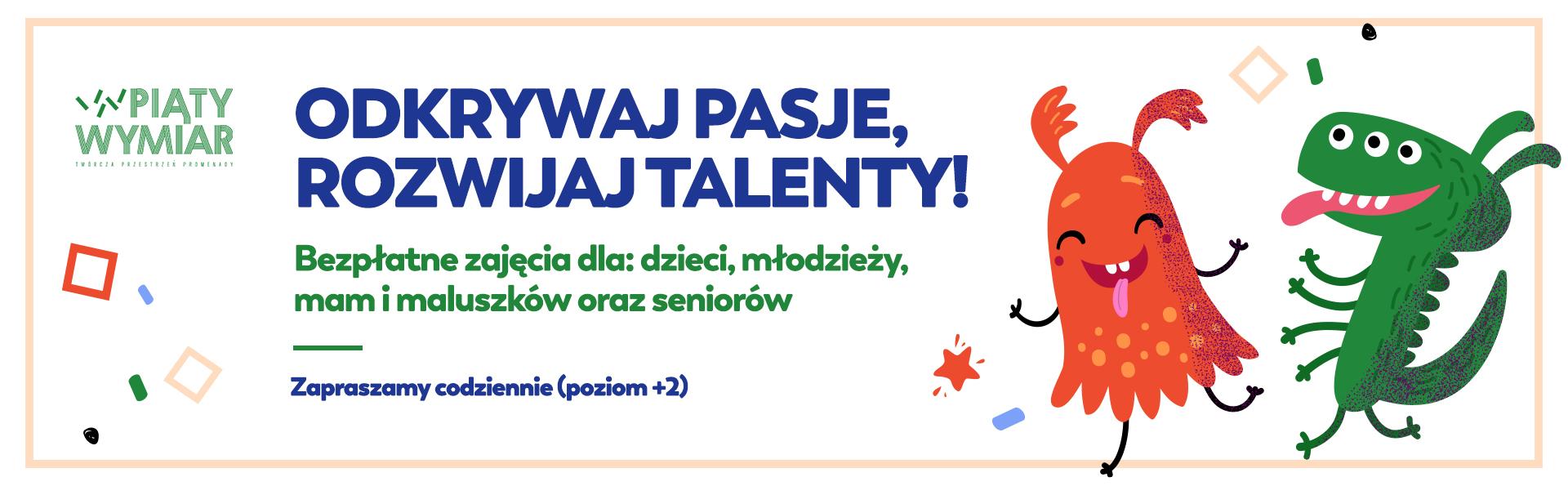 Bezpłatne zajęcia dla dzieci, młodzieży, mam i maluszków oraz seniorów